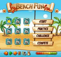 Zomer strand plezier game sjabloon
