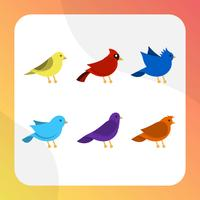 Collection de vecteur Clipart oiseau plat moderne