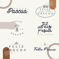 Feliz Pascua Typografie-Paket