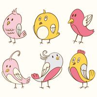 Cute Bird Clipart Element Set