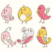 Cute Bird Clipart Element Set
