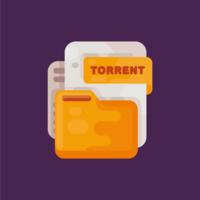 Torrent-bestand Vector
