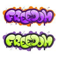 Flat Modern Graffiti Lettering Vector Illustration