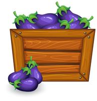 Eggplant on wooden board