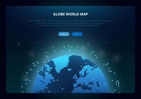 Carte internationale du globe 3D