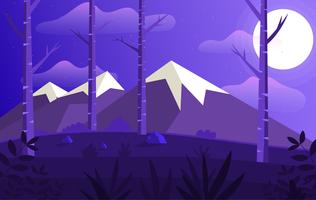 Vector ilustración paisaje púrpura