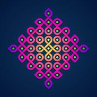 Colorful Rangoli Ornamental Design