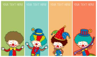 Banner template with happy clowns