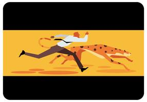 Businessman VS Cheetah  Running  Vector