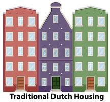 Ensemble de boîtier hollandais traditionnel