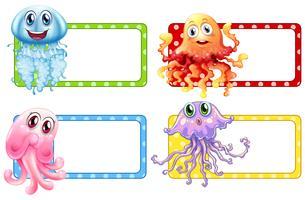 Design de rótulo com água-viva