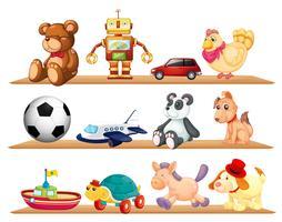 vários brinquedos
