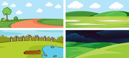 Eine Reihe von Natur Hintergrund