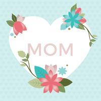 Tarjeta de felicitación del día de la madre del vector