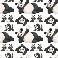 Seamless background  with cute panda