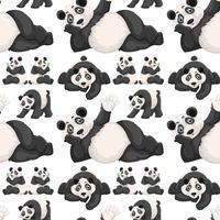 Naadloze achtergrond met schattige panda