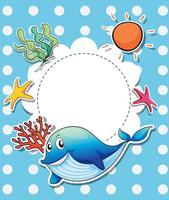 Een lege sjabloon met zeedieren
