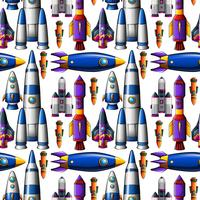 Seamless different design of rocket ships