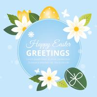 Vector Easter Greeting Card Design