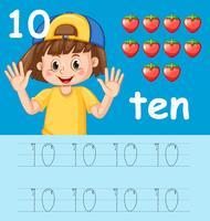 Nummer tien opsporingswerkbladen