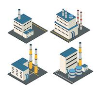 Isometric buildings Industrial Facilities