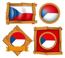 Drapeau du Chili sur des cadres différents