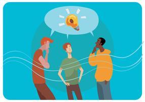 Entwurfs-Ideen-Vektor besprechen