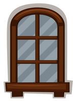 Neues Fenster mit rundem Rahmen