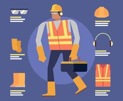 Personal Protective Equipment Illustration vector