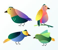 Gradient Birds Clip Art Vector