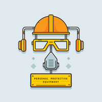 Personlig skyddsutrustning Vector