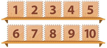 Math number on wooden template