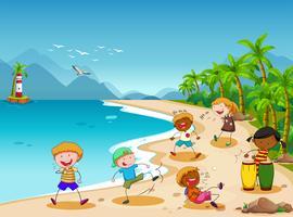 Niños y playa