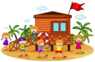 Bambini e capanna