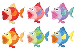 Smiling fishes vector
