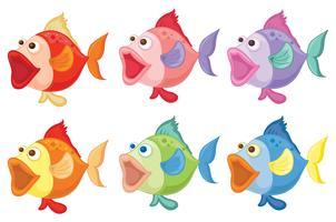 Peixes sorridentes vetor