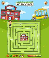 Kids school maze game