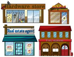 Different establishments vector