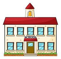Een schoolgebouw vector