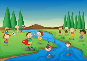 Scène de la rivière