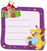Design de fronteira com o Príncipe e o dragão