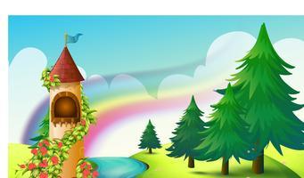 Schloss und Regenbogen