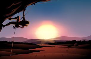 Nachmittags Blick auf die Wüste