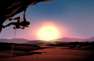 Una vista pomeridiana del deserto