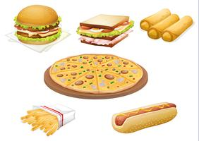 various foods vector