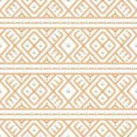 Seamless pattern of Gold chain geometrical ornament and pearls on white background. Vector illustration
