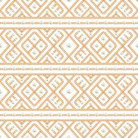 Teste padrão sem emenda do ornamento geométrico e das pérolas da corrente do ouro no fundo branco. Ilustração vetorial