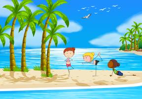 Yoga und Strand