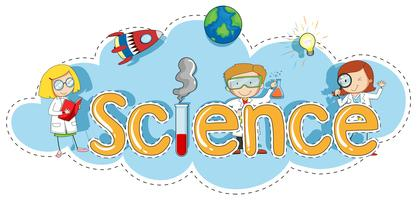 Sticker template for word science