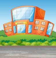 Une école vecteur